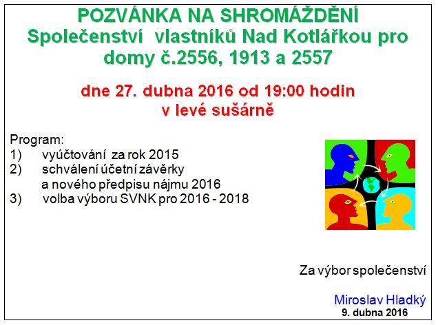 pozvanka 2016